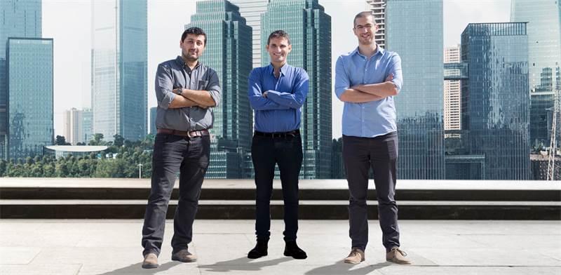 מייסדי מדיגייט, פיני פנחסוב, יונתן לנגר ואיתי קירשנבאום / צילום: מדיגייט