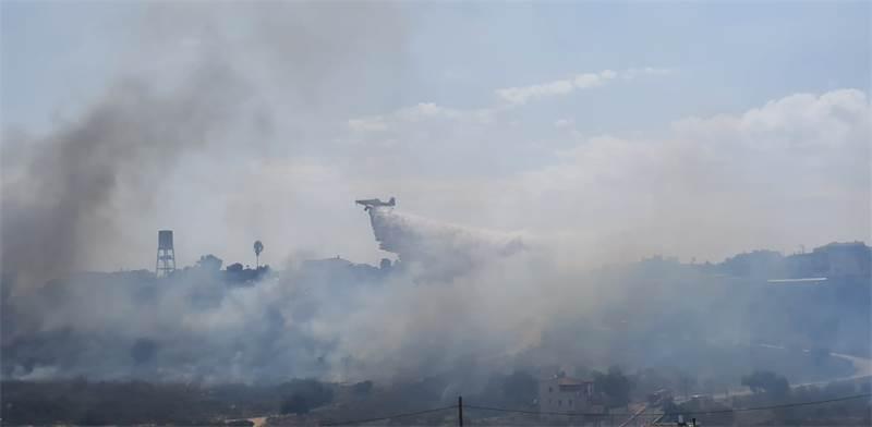 שריפה / צילום: דוברות המשטרה