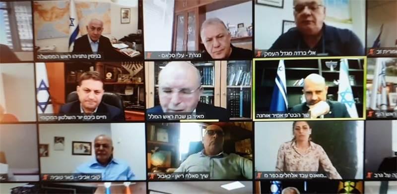 ראש הממשלה בנימין נתניהו בשיחת זום עם ראשי הרשויות המקומיות / צילום: צילום מסך, גלובס
