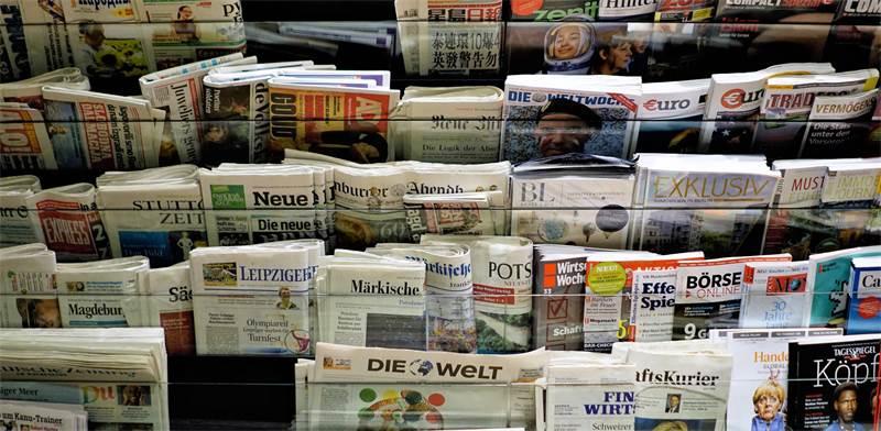 """""""דוכן עיתונים בברלין. גוגל מנסה לחתום על הסכמים ישירים עם מערכות העיתונים / צילום: Shutterstock, א.ס.א.פ קריאטיב"""