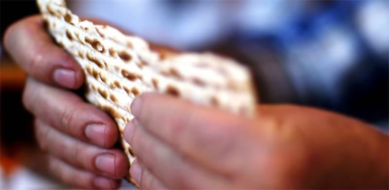 אדם מחזיק מצה / צילום: שאטרסטוק