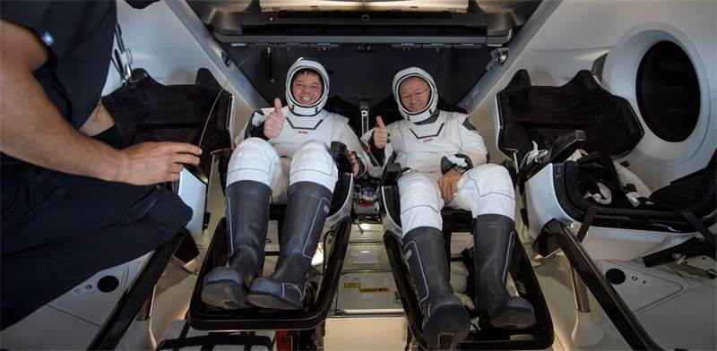 האסטרונאוטים בוב בנקן ודאג הרלי, Spacex / צילום: AP Photo, AP