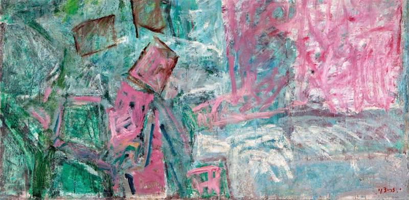 שמן על בד ללא כותרת של יוסף זריצקי מתוך אוסף אי.די.בי / בית המכירות תירוש