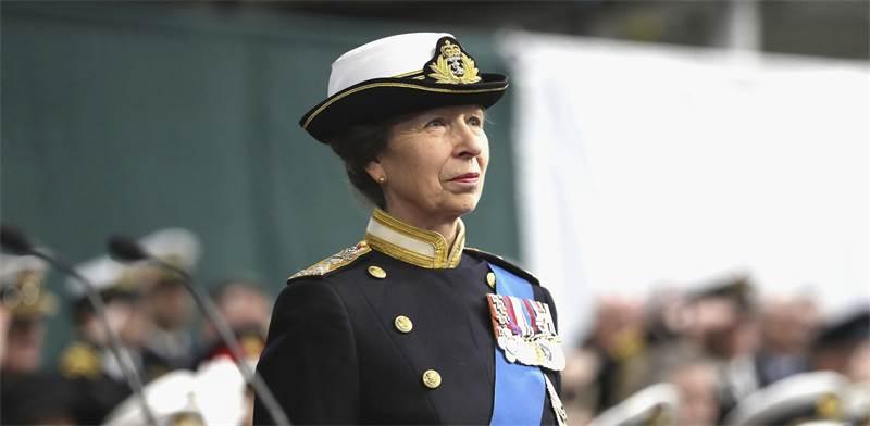 הנסיכה אן במדי חיל הנחתים המלכותי של בריטניה / צילום: Chris Jackson, AP