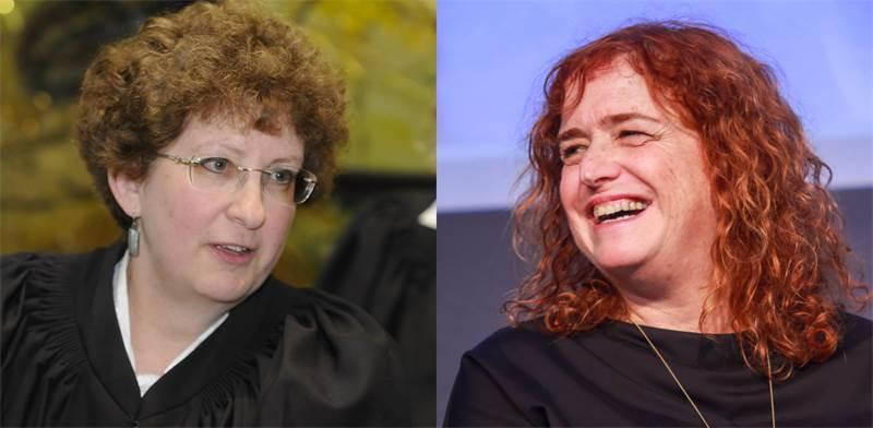 """עו""""ד ליאת בן-ארי והשופטת רבקה פרידמן-פלדמן / צילום: שלומי יוסף, אוריה תדמור"""
