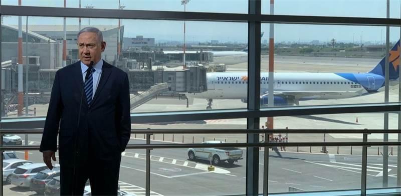 """ראש הממשלה בנמל התעופה בן גוריון / צילום: לע""""מ"""