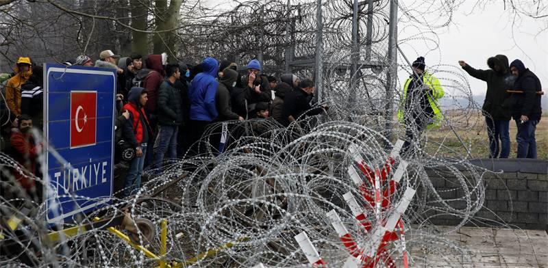 פליטים בגבול יוון-טורקיה / צילום: Umit Bektas, רויטרס