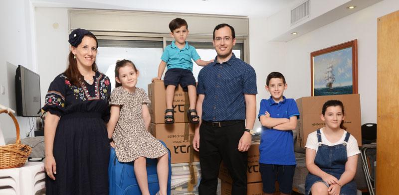 משפחת שוורץ רגע לפני רילוקיישן / צילום: איל יצהר