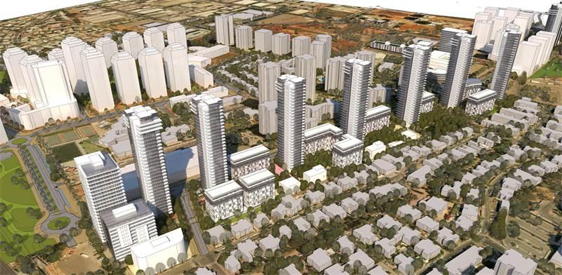 תוכנית להתחדשות עירונית בשכונת גיורא בגבעת שמואל / הדמיה: פרחי צפריר אדריכלים