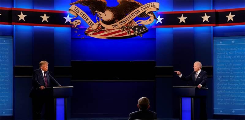 העימות הראשון בין ג'ו ביידן ודונלד טראמפ  / צילום: Patrick Semansky, AP