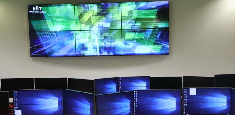 """מרכז הסייבר ב-HIT, מכון טכנולוגי חולון / צילום: יח""""צ HIT"""