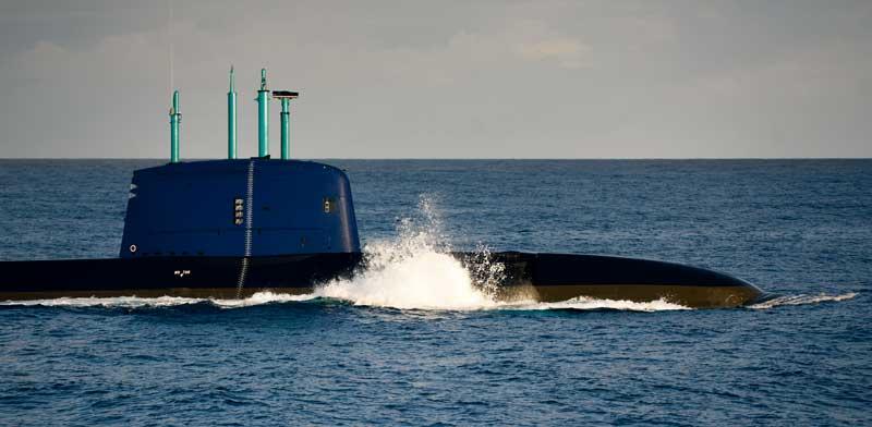 """צוללת חיל הים מסדרת דולפין / צילום: דובר צה""""ל"""