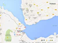 Bab el-Mandeb תימן / גוגל מפות