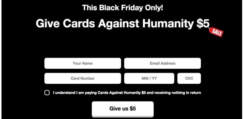 קלפים נגד האנושות / צילום מסך