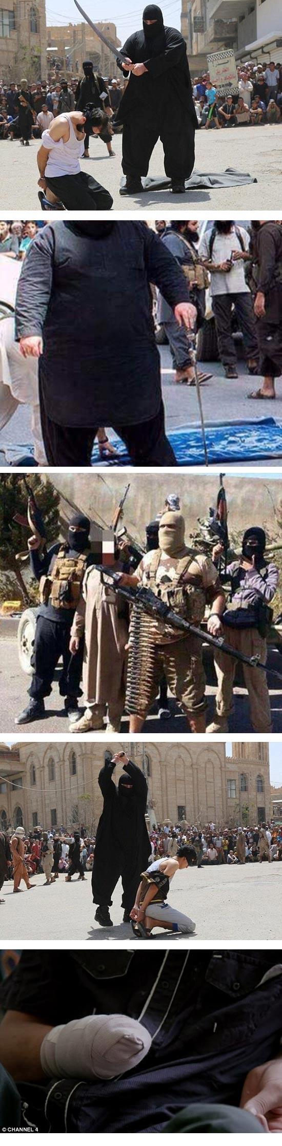 """""""הבולדוזר"""", המוציא להורג של דאע""""ש / צילום מסך"""