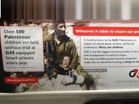 קמפיין פרו פלשתיני נגד ישראל ברכבת התחתית בלונדון / מתוך טוויטר