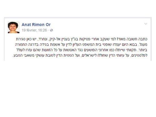 הסטטוס בפייסבוק / צילום: צילום מסך